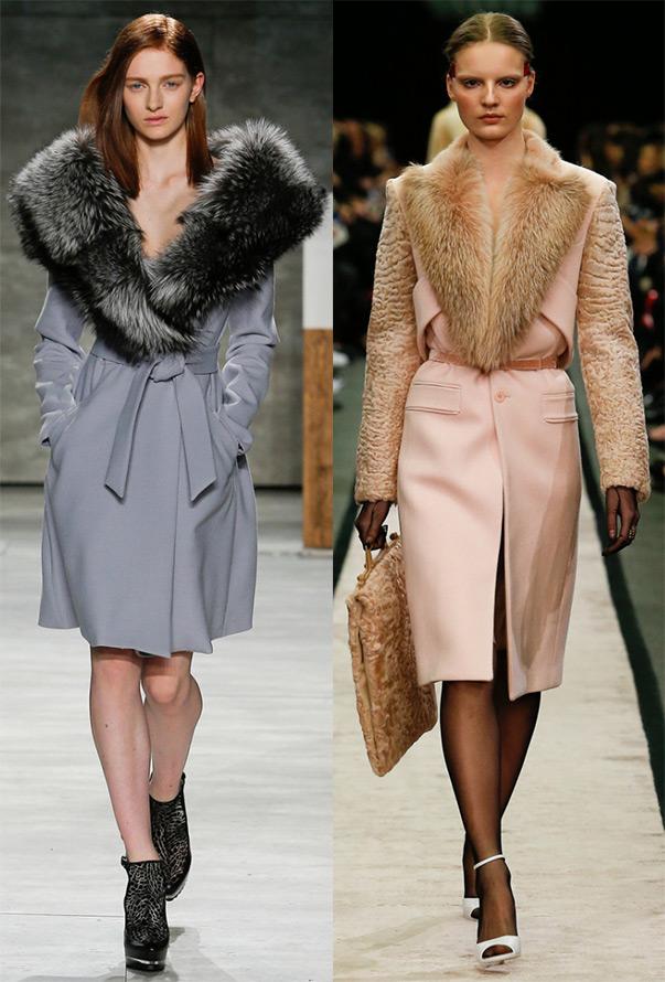 Модные зимние пальто с мехом 2016-2017 фото